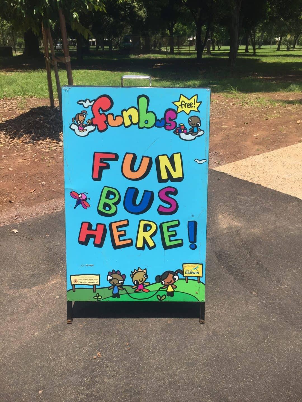 Fun bus mobile playgroup sign