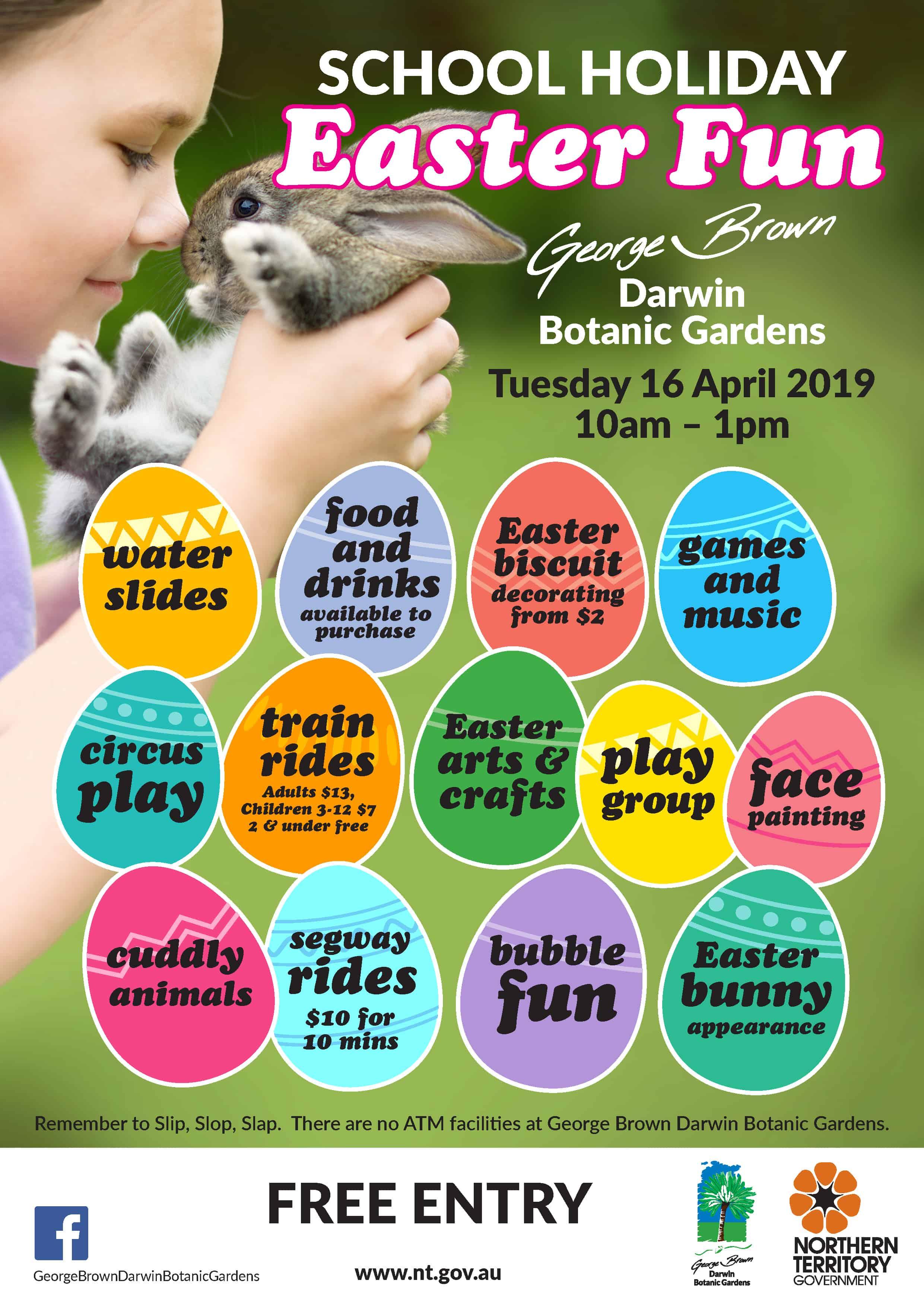 Botanic Gardens School holidays April 2019