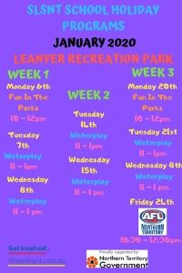 Darwin December and January School holidays 2019